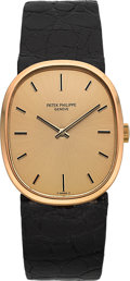 "Timepieces:Wristwatch, Patek Philippe Ref. 3748 Yellow Gold ""Ellipse"", circa 1975. ..."