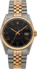 Timepieces:Wristwatch, Rolex Ref. 16000 Gent's Two Tone Oyster Perpetual Datejust, circa1987. ...