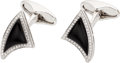 Estate Jewelry:Cufflinks, Black Onyx, Diamond, White Gold Cuff Links, Eli Frei. ... (Total: 2Items)