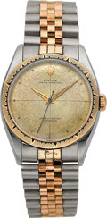 """Timepieces:Wristwatch, Rolex Ref. 6582 Two Tone """"Zephyr"""" Oyster Perpetual Chronometer, circa 1957. ..."""