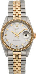 Timepieces:Wristwatch, Rolex Ref. 1505 Two Tone Oyster Perpetual Date, circa 1965. ...