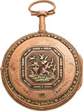 Timepieces:Pocket (pre 1900) , Ami Amalric Multicolored Gold Verge Fusee, circa 1790. ...