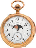 "Timepieces:Pocket (post 1900), Swiss ""Calendrier Breveté"" Double Dial Quarter Hour Repeater, circa1890's. ..."