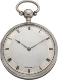 Timepieces:Pocket (pre 1900) , Swiss Silver Quarter Hour Repeater, circa 1830. ...