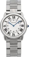 Timepieces:Wristwatch, Cartier Ronde Solo 36 mm Steel Wristwatch. ...