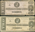 Confederate Notes:1862 Issues, $2 Confederate Notes.. ... (Total: 2 notes)