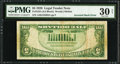 Error Notes:Inverted Reverses, Fr. 1525 $5 1928 Inverted Reverse Legal Tender Note. PMG Very Fine30 Net.. ...