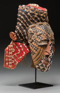 Tribal Art, KUBA, Democratic Republic of Congo. Female Royal Mask...