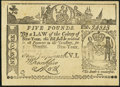Colonial Notes:New York, Facsimile New York February 16, 1771 £5 St. Jacobs Oil Ad Note VeryFine.. ...