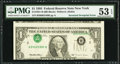 Error Notes:Inverted Third Printings, Fr. 1921-B $1 1995 Federal Reserve Note. PMG About Uncirculated 53EPQ.. ...