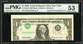 Error Notes:Inverted Third Printings, Fr. 1924-B $1 1999 Federal Reserve Note. PMG About Uncirculated53.. ...