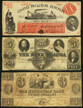 Obsoletes By State:Ohio, Trio of Ohio Obsolete Bank Notes 1838-58. ... (Total: 3 notes)