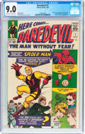 Silver Age (1956-1969):Superhero, Daredevil #1 (Marvel, 1964) CGC VF/NM 9.0 Off-white to whitepages....
