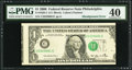 Error Notes:Miscellaneous Errors, Fr. 1932-C $1 2006 Federal Reserve Note. PMG Extremely Fine 40.. ...