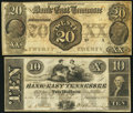 Obsoletes By State:Tennessee, Knoxville, TN- Bank of East Tennessee at Chattanooga Branch $20 Jan. 1, 1855. Knoxville, TN- Bank of East Tennessee at Jon... (Total: 2 notes)