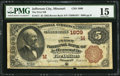 National Bank Notes:Missouri, Jefferson City, MO - $5 1882 Brown Back Fr. 471 The First NB Ch. #(M)1809. ...