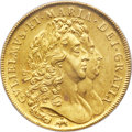 "Great Britain, Great Britain: William & Mary gold ""Elephant & Castle"" 5 Guineas 1692 MS63 PCGS,..."