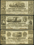 Obsoletes By State:Michigan, Sault De St. Marys, MI- Bank of Chippeway $3; $5; $10 Jan. 3, 1838. ... (Total: 3 notes)