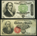 Fractional Currency, 50¢ Fourth Issue Very Fine or Better.. ... (Total: 2 items)