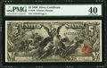 Large Size:Silver Certificates, Fr. 268 $5 1896 Silver Certificate PMG Extremely Fine 40.. ...