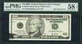 Error Notes:Ink Smears, Fr. 2038-G $10 2003 Federal Reserve Note. PMG Choice About Unc 58EPQ.. ...