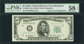 Fr. 1962-E $5 1950A Federal Reserve Note. PMG Choice About Unc 58 EPQ