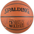 Basketball Collectibles:Balls, 2003-04 Los Angeles Lakers Team Signed Basketball....