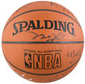 Basketball Collectibles:Balls, 2002 Los Angeles Lakers Team Signed Basketball....