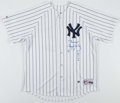 Baseball Collectibles:Uniforms, Roger Clemens Signed and Inscribed New York Yankees Jersey....