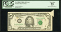 Error Notes:Foldovers, Fr. 1980-C $5 1988A Federal Reserve Note. PCGS Very Fine 25.. ...