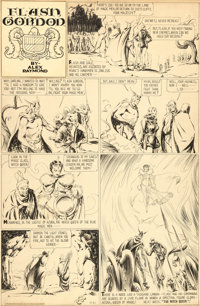 Alex Raymond Flash Gordon Sunday Comic Strip Original Art dated 4-21-35 (King Features Syndicate, 1935)