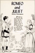 Original Comic Art:Complete Story, George Evans Classics Illustrated #134 Romeo and JulietComplete 44-Page Story Original Art (Gilberton, 1956).... (Total:44 Items)