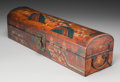 Asian:Chinese, A Chinese Polychrome Painted Leather Box. 6-1/4 h x 23-1/2 w x6-1/2 d inches (15.9 x 59.7 x 16.5 cm). ...
