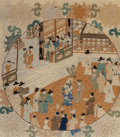 Asian:Chinese, Chinese School . Silk embroidery. Silk thread on fabric.20-1/4 x 17-1/2 inches (51.4 x 44.5 cm) (sight). ...