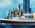 Fine Art - Painting, American:Contemporary   (1950 to present)  , Ronald Mallory (American, b. 1939). Andrea Doria, 1984. Oilon canvas. 23-1/4 x 29-1/2 inches (59.1 x 74.9 cm) (sight). ...