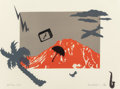 Fine Art - Work on Paper:Print, Laurie Anderson (American, b. 1947). Mt. Daly: US IV, 1982.Lithograph in colors. 22-1/2 x 30 inches (57.2 x 76.2 cm) (s...