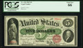 Large Size:Legal Tender Notes, Fr. 63b $5 1863 Legal Tender PCGS Gem New 66.. ...
