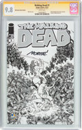 Modern Age (1980-Present):Horror, Walking Dead #1 Wizard World Austin Sketch Edition - Signature Series (Image, 2015) CGC NM/MT 9.8 White pages....