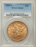 Liberty Double Eagles: , 1890-S $20 MS60 PCGS. PCGS Population (65/1188). NGC Census: (151/1158). Mintage: 802,750. CDN Wsl. Price for problem free ...