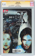 Modern Age (1980-Present):Science Fiction, The X-Files #27 Signature Series (Topps Comics, 1997) CGC NM 9.4 White pages....