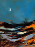 Paintings, Leonardo M. Nierman (American/Mexican, b. 1932). Moonlight. Acrylic on masonite. 47-1/2 x 35-1/2 inches (120.7 x 90.2 cm...