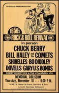 Movie Posters:Rock and Roll, 1950s Rock & Roll Revival featuring Chuck Berry at the Memorial Coliseum (Richard Nader, Early 1970s). Concert Window Card (...