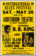 "Movie Posters:Rock and Roll, International Blues Festival featuring B.B. King at the AuditoriumTheatre (IBF, 1970s). Concert Window Card (14"" X 22""). Ro..."