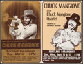 "Movie Posters:Rock and Roll, Chuck Mangione Concert Poster Lot (Northwest Releasing, 1970s).Concert Window Cards (2) (14"" X 21.75""). Rock and Roll.. ...(Total: 2 Items)"