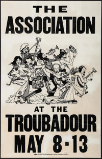 "The Association Concert Poster Lot (Various, Early 1970s). Concert Window Cards (2) (11"" X 17"" & 14&qu..."