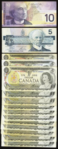 Canadian Currency: , A Sizable Canadian Contingent.. ... (Total: 38 notes)