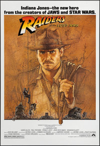 "Raiders of the Lost Ark (Paramount, 1981). Fan Club One Sheet (27"" X 41""). Adventure"