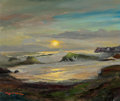 Fine Art - Painting, American:Contemporary   (1950 to present)  , Robert William Wood (American, 1889-1979). Sunset at MorroBay. Oil on canvasboard. 20 x 24 inches (50.8 x 61.0 cm).Sig...