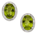 Estate Jewelry:Earrings, Peridot, Diamond, Platinum, Gold Earrings. ... (Total: 2 Items)