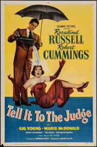 """Tell It to the Judge (Columbia, 1949). One Sheet (27"""" X 41""""). Comedy"""